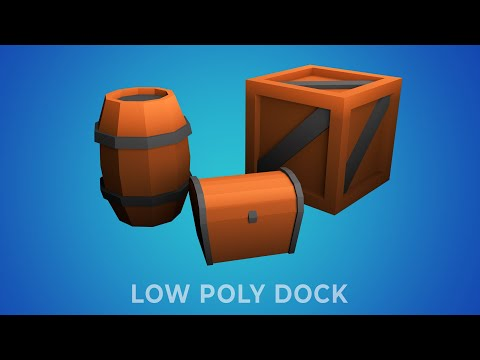 [30 Day Low Poly Modelling Challenge] Day 6 / 30 - [Boxes & Barrels]