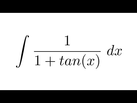 Integral of 1/(1+tan(x)) (substitution)