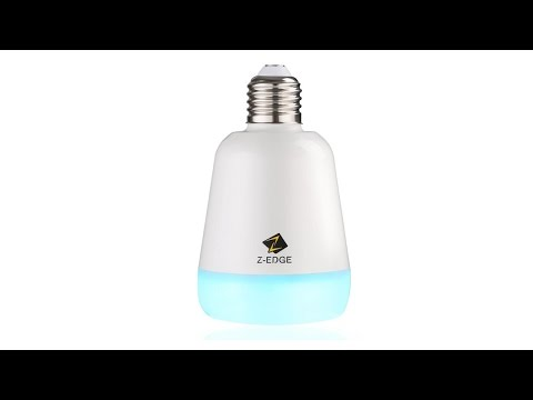 Z-Edge Color Changing Bluetooth LED Light Bulb and Speaker