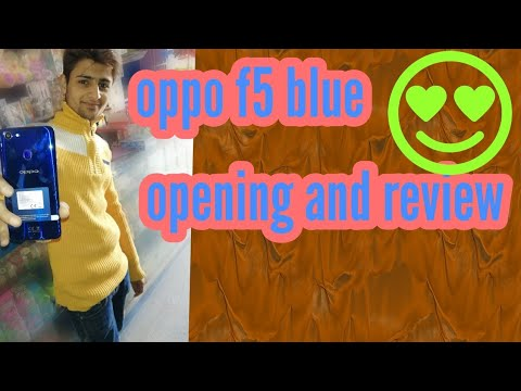 Oppo F5 Limited Edition opening | dashing blue
