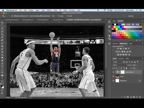 How to Create a Basic Color Splash Effect Photoshop CC