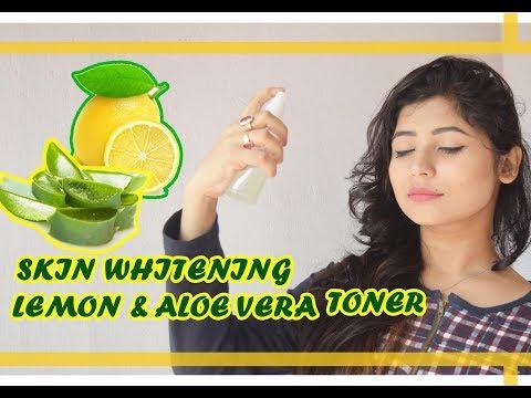 🍋Best Skin Whitening Toner- DIY Lemon & Aloe Vera Toner🍋 Bright & White Skin/Parna's Beauty World