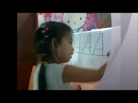 How teach the child to write-3 years old baby Jemarel