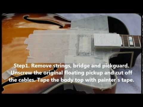 How to replace a floating pickup for a Gibson Classic 57 humbucker on a hollow body jazz guitar