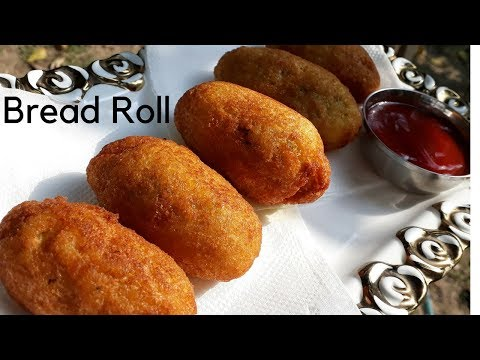 Bread Roll Recipe   Potato Stuffed Bread Roll   Bread Potato Roll