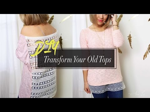 DIY Hack Old Shirts Into New | Cute & Easy | ANN LE