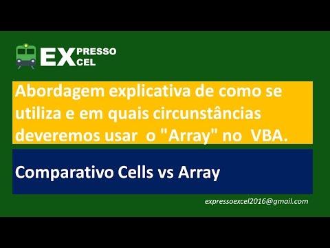 MS Excel - VBA Array - Preenchendo planilha com Cells vs Array - Primeiro Contato
