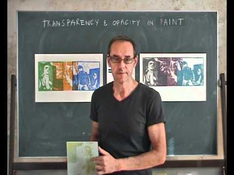 transparency and opacity in paint ( Educational Flash #01from vondelparkatelier.nl)