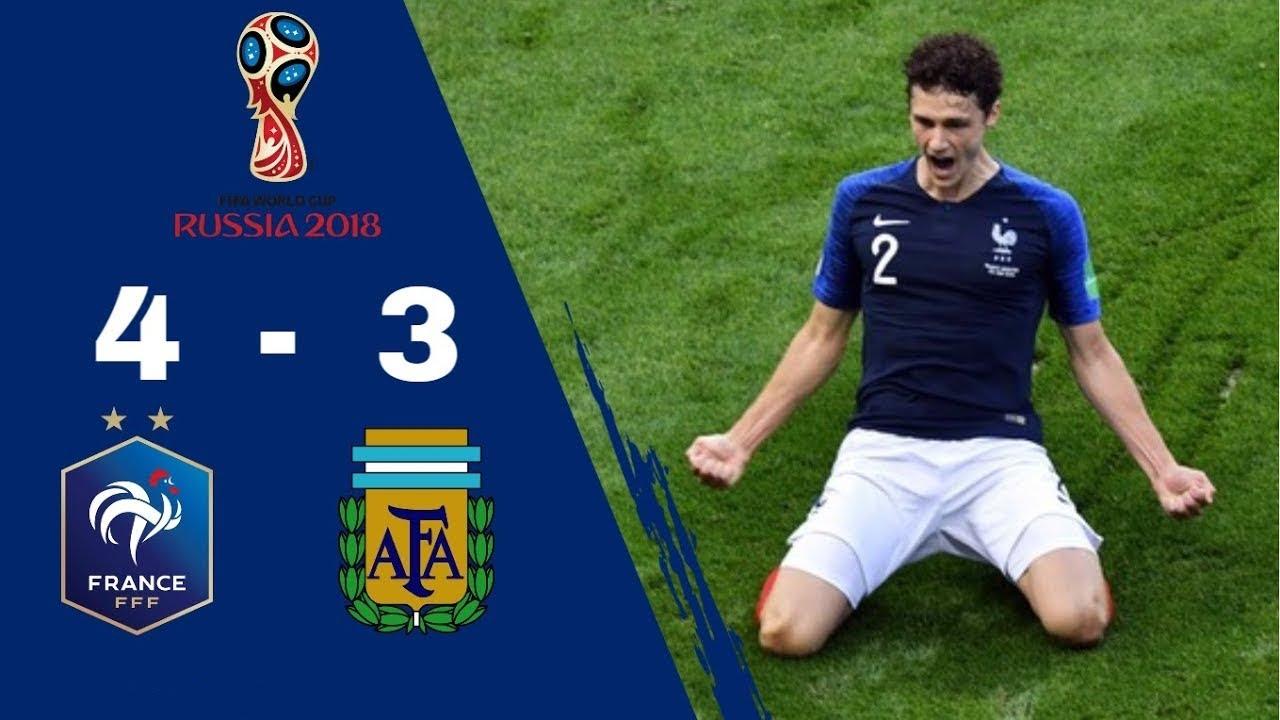 Résumé FRANCE 4 - 3 ARGENTINE   Huitièmes de finale   Coupe Du Monde 2018 [HD] [TF1]