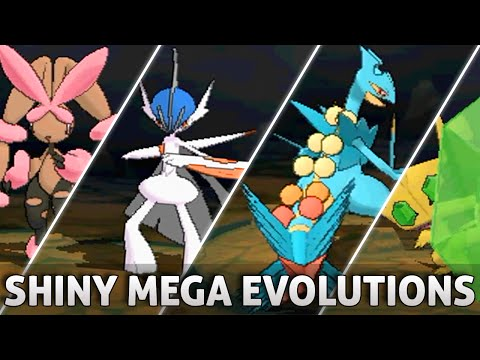 Pokemon Omega Ruby and Alpha Sapphire: All SHINY Mega Evolutions!