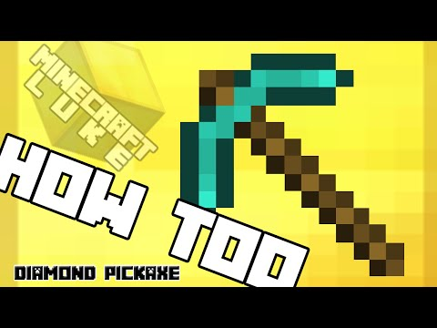 Minecraft, How to make a 'Diamond Pickaxe' !