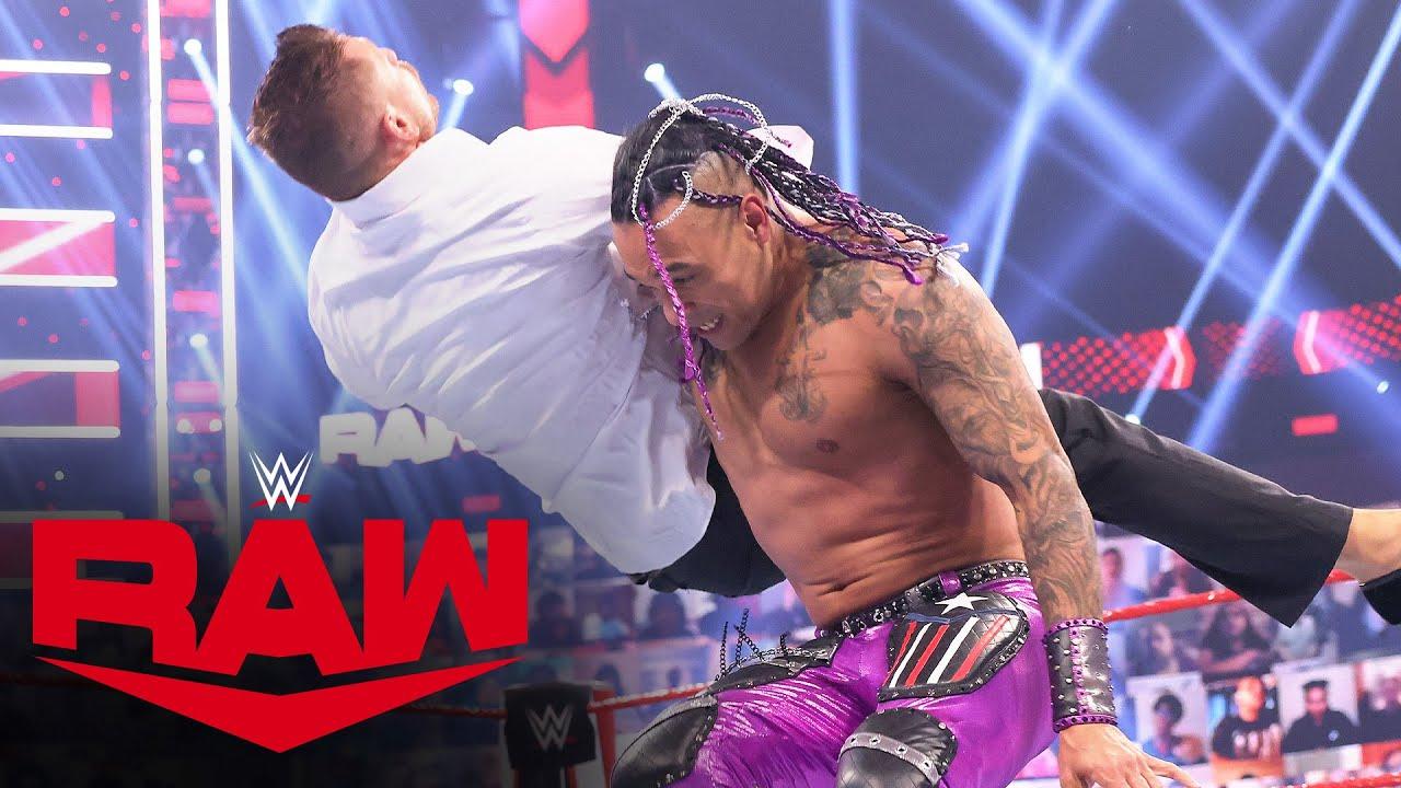 Damian Priest vs. The Miz & John Morrison – Handicap Match: Raw, April 12, 2021
