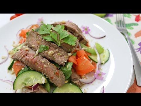 Thai Beef Salad Bangkok Style ยำเนื้อย่าง - Episode 69