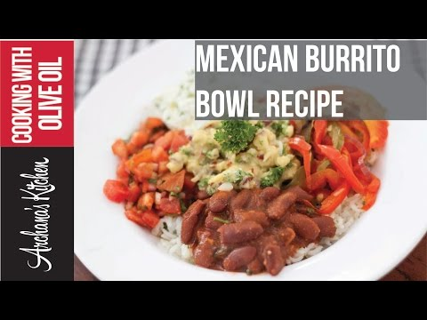 Red Bean Mexican Burrito Bowl Recipe - Roz Ka Khana With Figaro Olive Oil