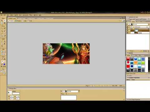 how to make banner adobe fireworks CS3