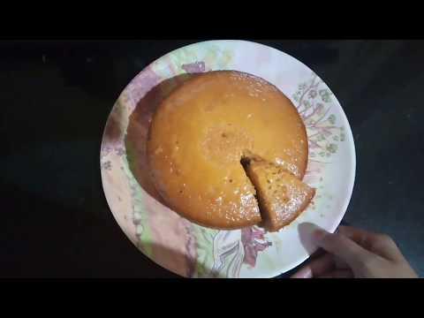 How to make eggless vanilla custard cake in pressure cooker | hindi
