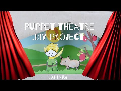 HOW TO MAKE A CARDBOARD PUPPET THEATER 🎪 DIY 🎠 RECYCLED TOY