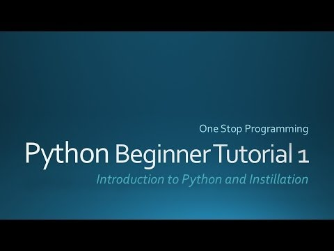 Python Beginner Tutorial 1 (For Absolute Beginners)