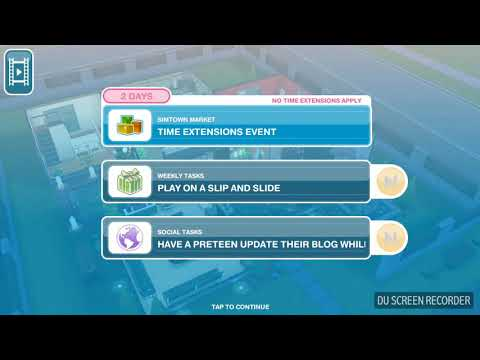 The Sims Freeplay - Play on a Slip and Slide - Weekly Task