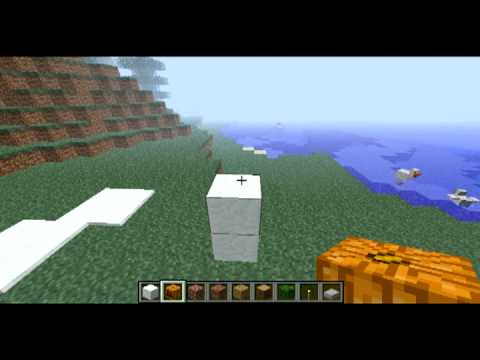 Minecraft Tutorials: How to spawn a snowman [EASY]