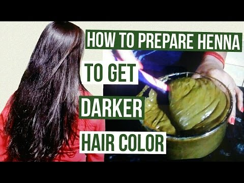How to prepare henna to get darker hair color | Henna Pack for Deep Brown Hair Color
