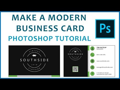 Photoshop Tutorial - Make a Modern Double-Sided Business Card
