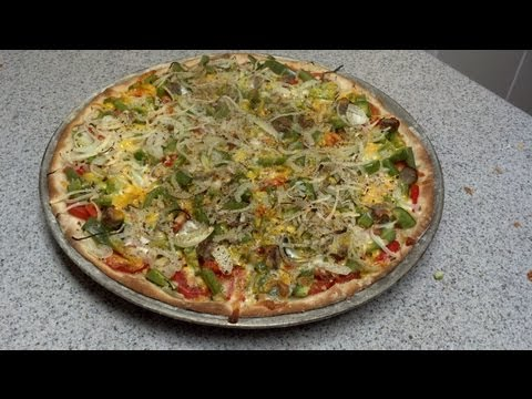Thin crust pizza recipe and instructions. How to make pizza. FoodMonster63