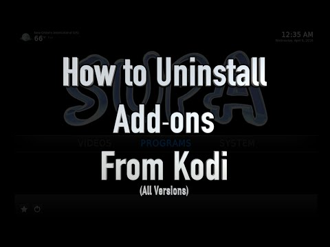How to Uninstall Add-ons from Kodi (ANY VERSION, ANY DEVICE!)