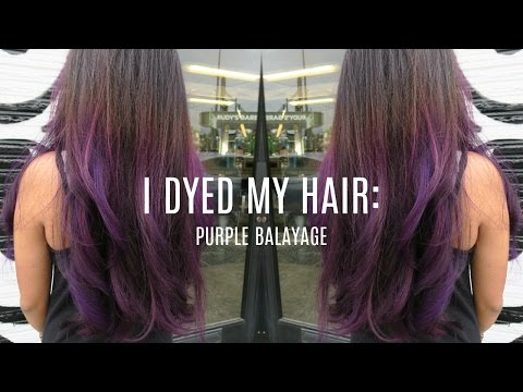 I Dyed My Hair: Purple Balayage | Salena Sok