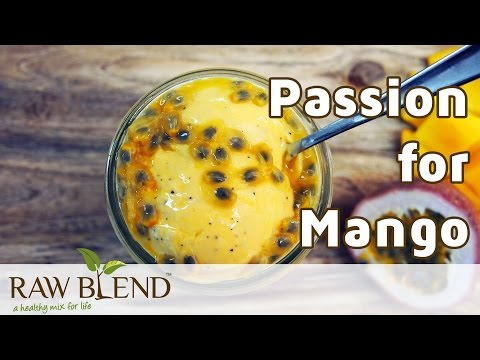 How to Make Ice Cream (Passion for Mango Recipe) in a Vitamix 750 Blender by Raw Blend