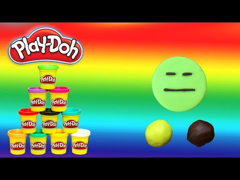 How to Make Play Doh Expressionless Face - Emoji - PlayWithMe#20