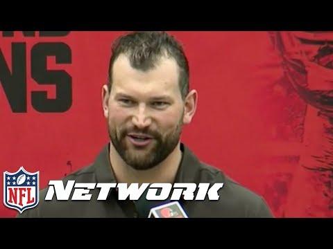 Joe Thomas Roasts his Former Coaches & Teammates in Retirement Speech 😂 | NFL Network