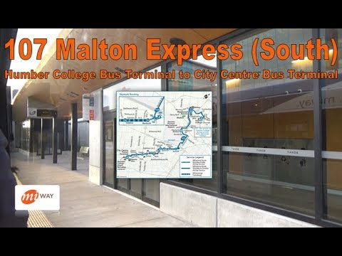 107 Malton Express - MiWay 2017 New Flyer XD40 1707 (South) - (Humber College to City Ctr Terminal)
