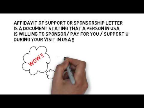 USA VISA SPONSORSHIP LETTER- Form I134- USA visa affidavit of support