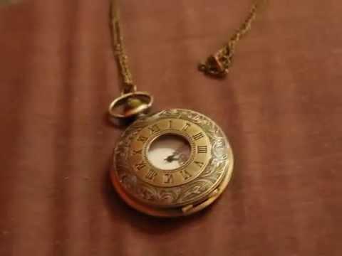 BuyInCoins Vintage Bronze Roma Numerals Steampunk Clock Chain Necklace Quartz Pocket Watch