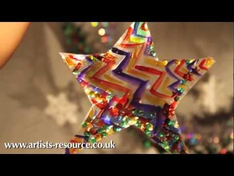 Christmas Craft! Make a Christmas Tree Hanging Ornament Tutorial