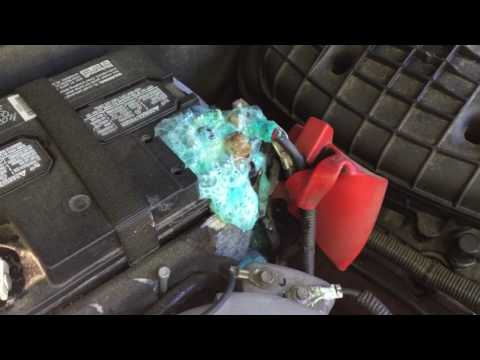 Clean your car battery corrosion with Baking Soda & water only Safety First this is Dangerous