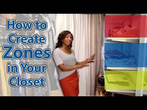 How to Create Zones in Your Closet