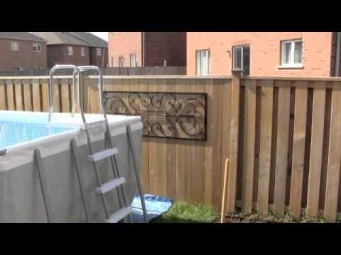 Intex Above Ground Pool Installation Part 2