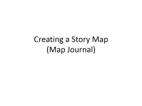 How to create a Story Map using the Map Journal template