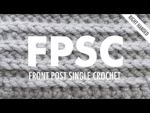 The Front Post Single Crochet (FPsc) :: Crochet Stitch :: Right Handed