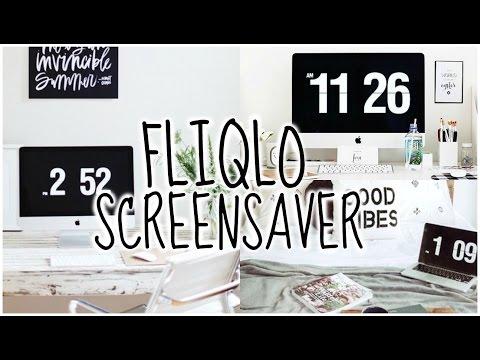 FLIQLO SCREENSAVER: How to Download the Flip Clock Screensaver