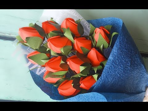 ABC TV | How To Make Rose Bud Bouquet With Shape Punch - Craft Tutorial