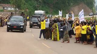 Museveni and Kagame arrive at Katuna boarder for meeting
