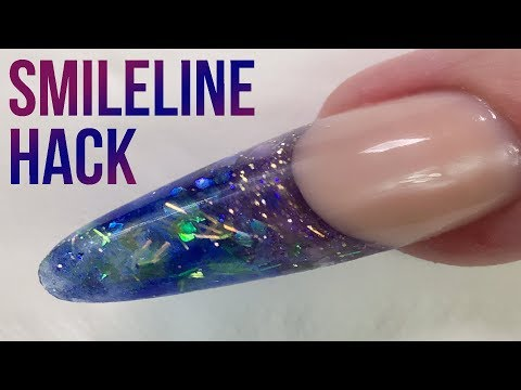 Creating a Smileline - Nail Hack - OMG!! WE HAD A POWER CUT!
