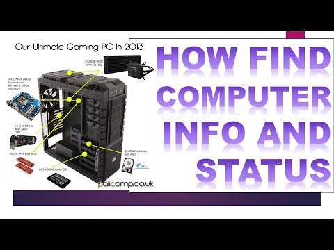 SEO How to check computer system info and status