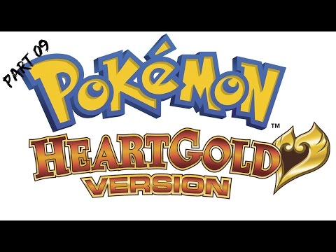 Let's play Pokemon Heart Gold Walkthrough Part 9 Growlithe!!
