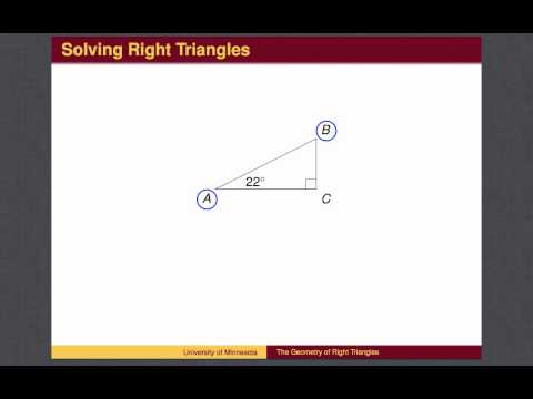 1 - Geometry of Right Triangles