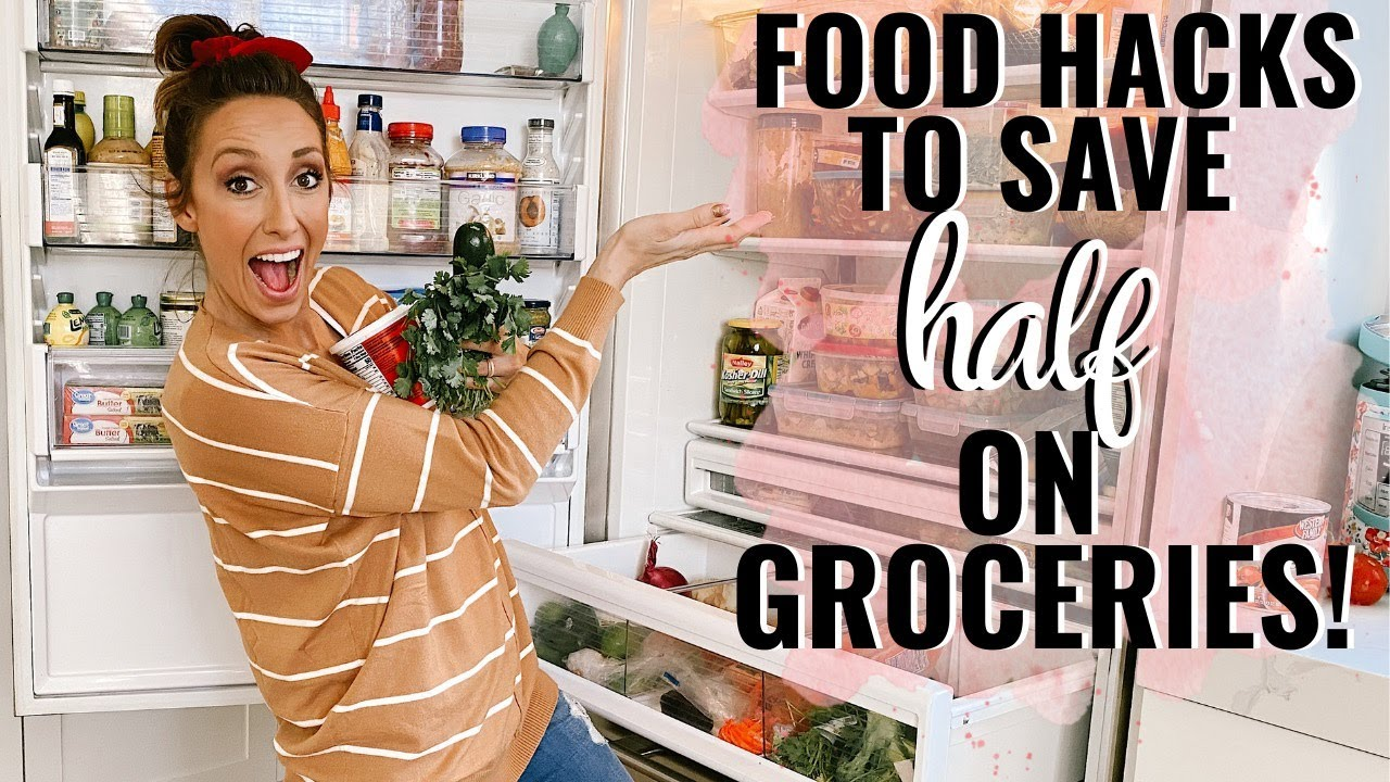 Food Hacks to save HALF on Groceries! Grocery Budget & Food tips with Jordan Page