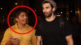 A Fan Harasses Aditya Roy Kapoor For Selfie - Here